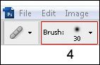 Step 4 - Use the Healing Brush Tool to reduce a person's shiny skin in a photo.
