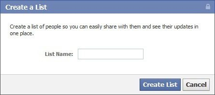 Facebook Lists - Create-a-List - List Name