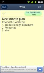 GTasks Android todo list app - task add & edit screen