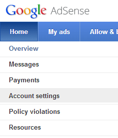 google-adsense-change-login-email-account-settings