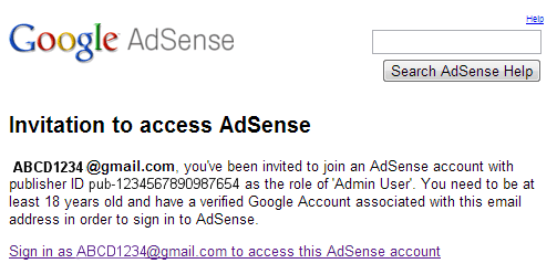 google-adsense-change-login-email-inviation-admin-user-gmail
