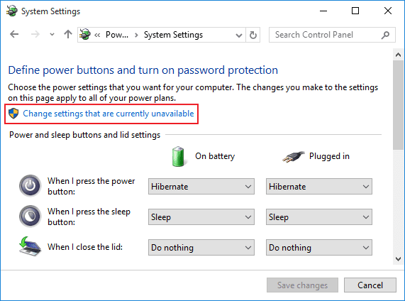 add-hibernate-option-to-windows-10-start-menu-change-settings-currently-unavailable