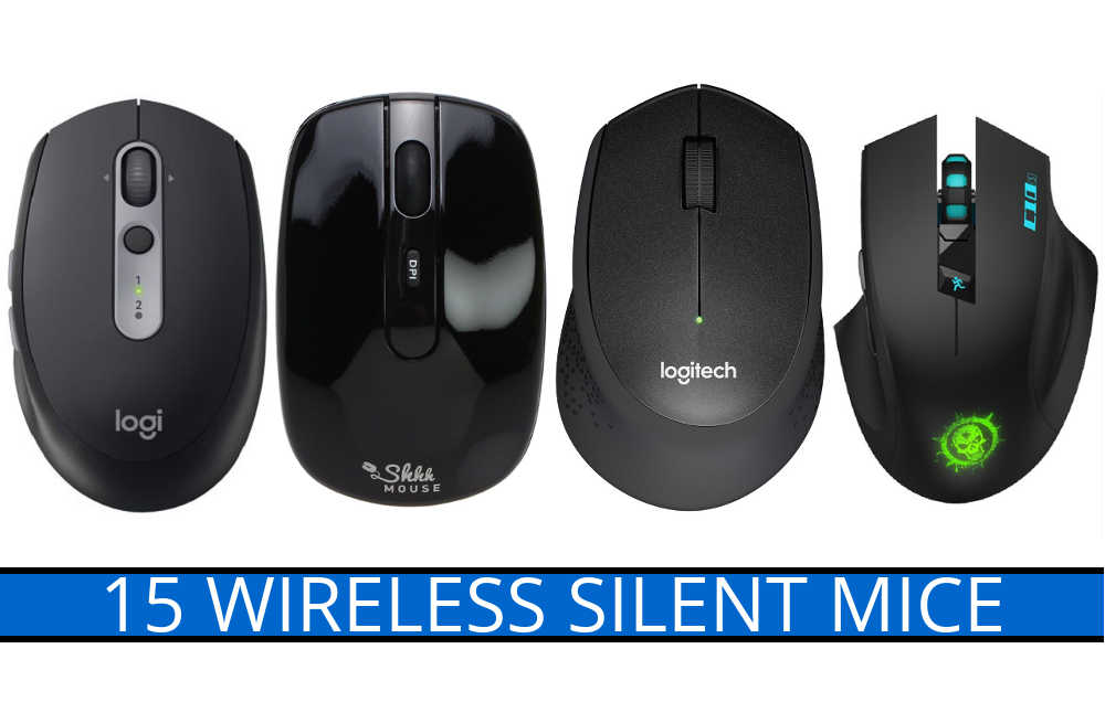 15 Wireless Silent Mice with Quiet-Click/Noiseless Mouse