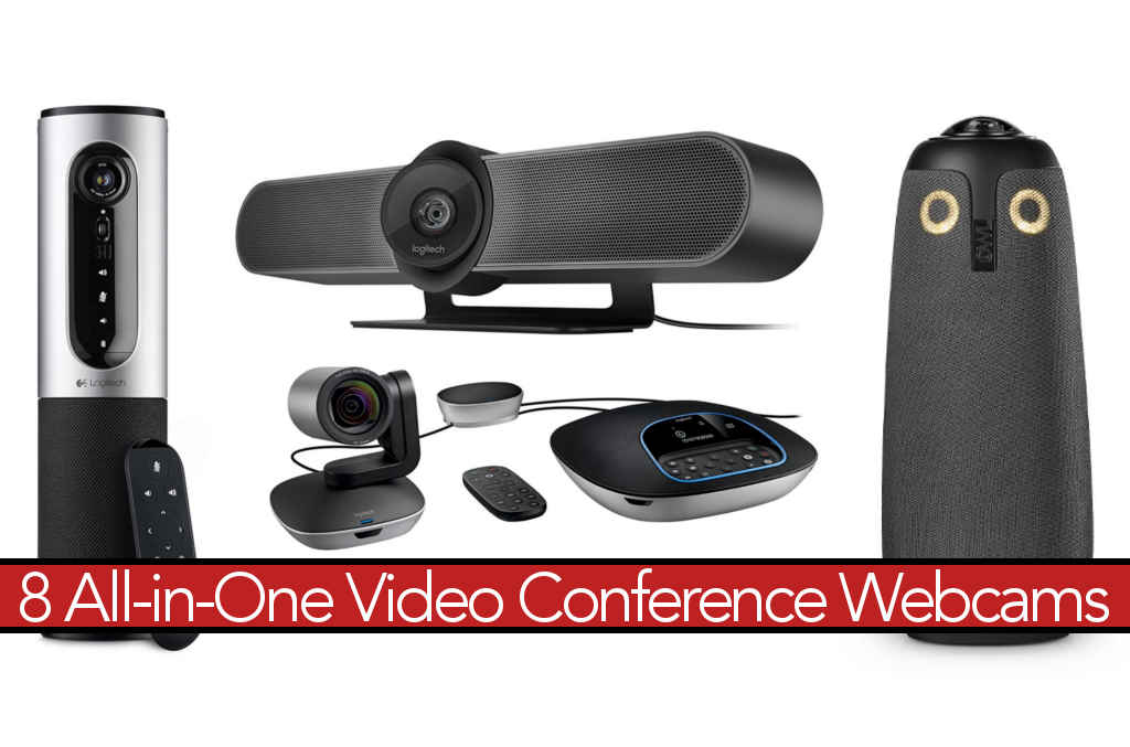 8 HD Video Conference Cameras w/ Speakerphones